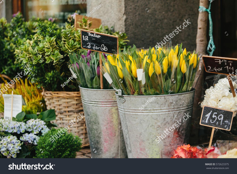 Flowers Near Flower Shop City Stock Shutterstock