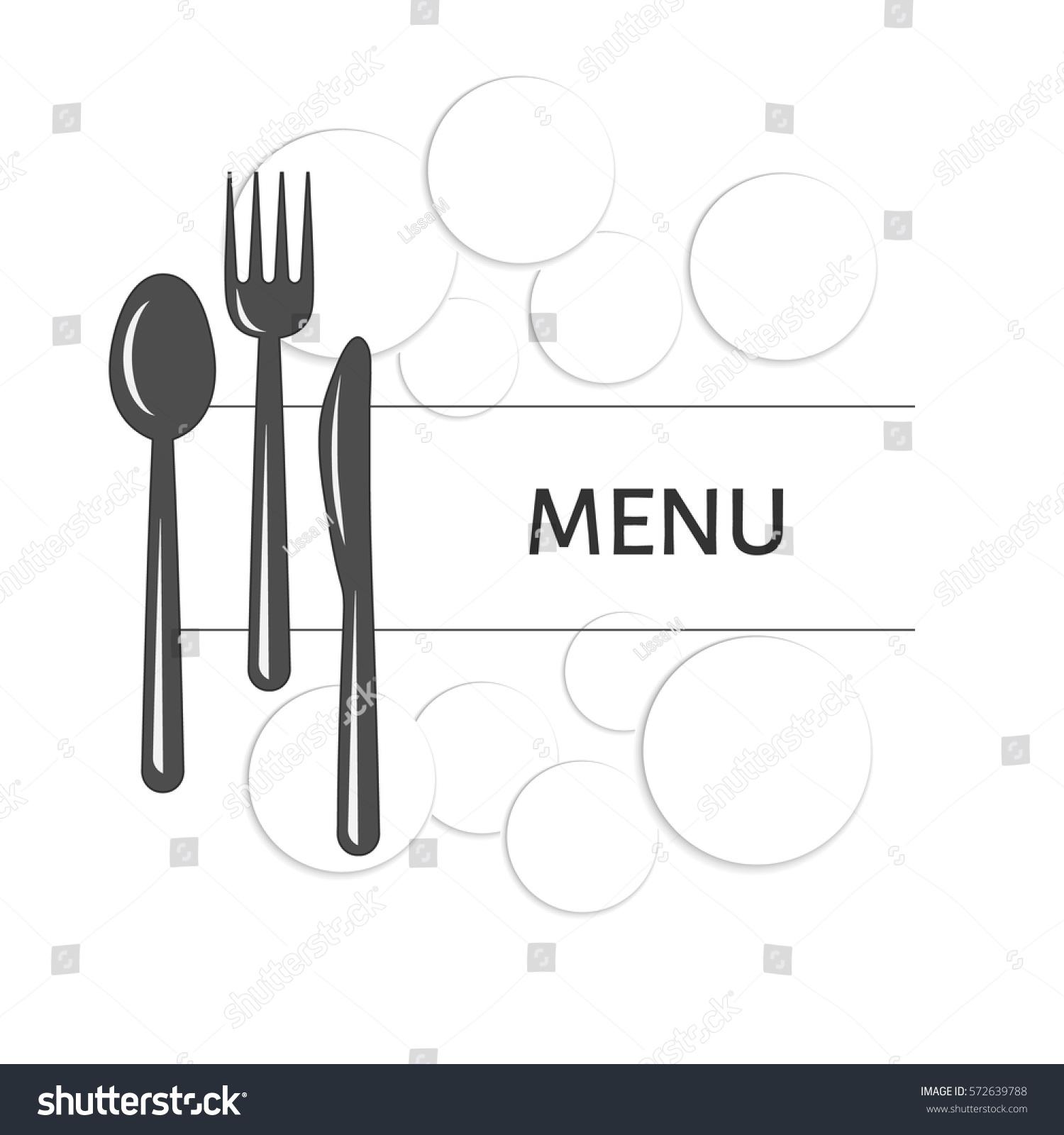 Restaurant menu design vector illustration background