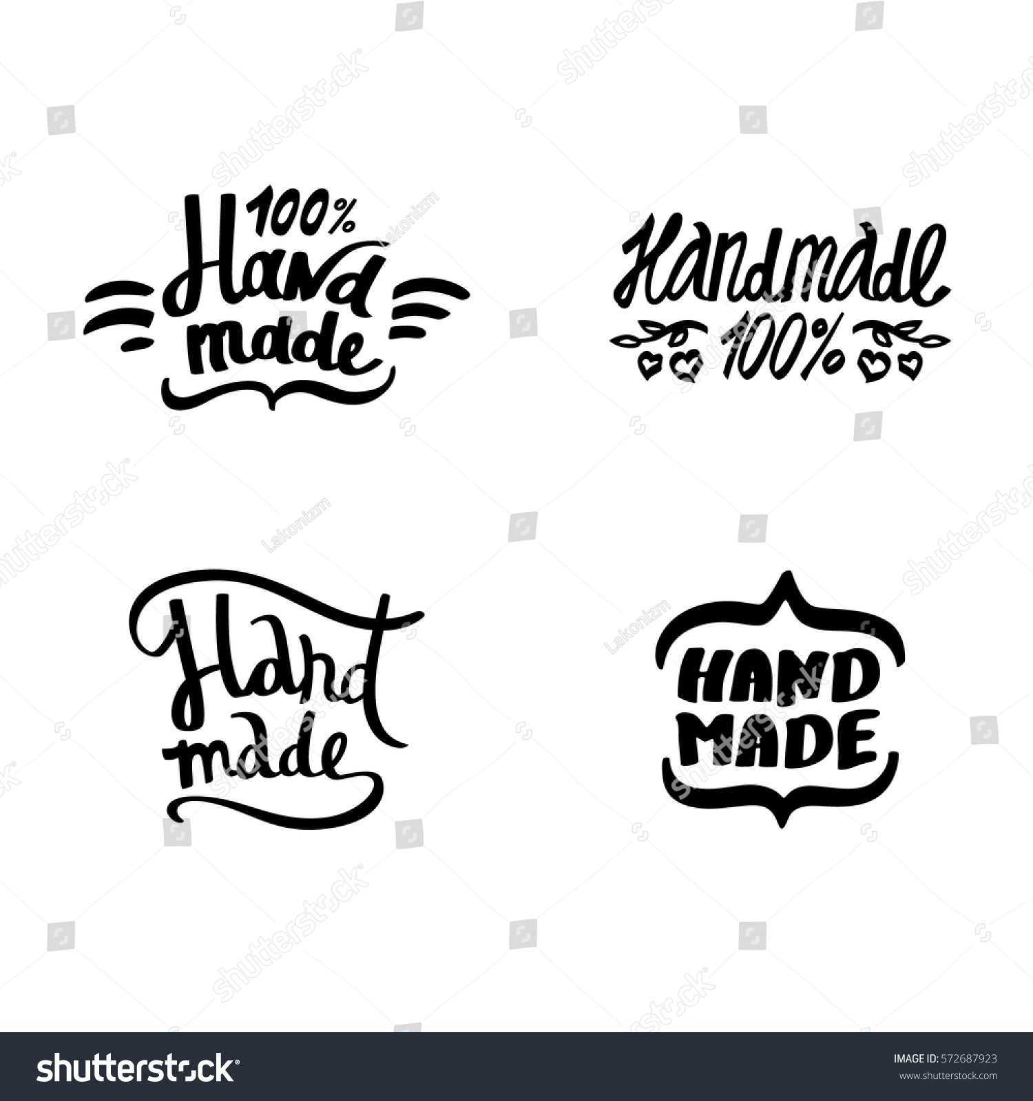 Set graffiti handmade signs labels logo stock vector 572687923 set of graffiti handmade signs labels and logo elements vintage symbols handwritten black biocorpaavc