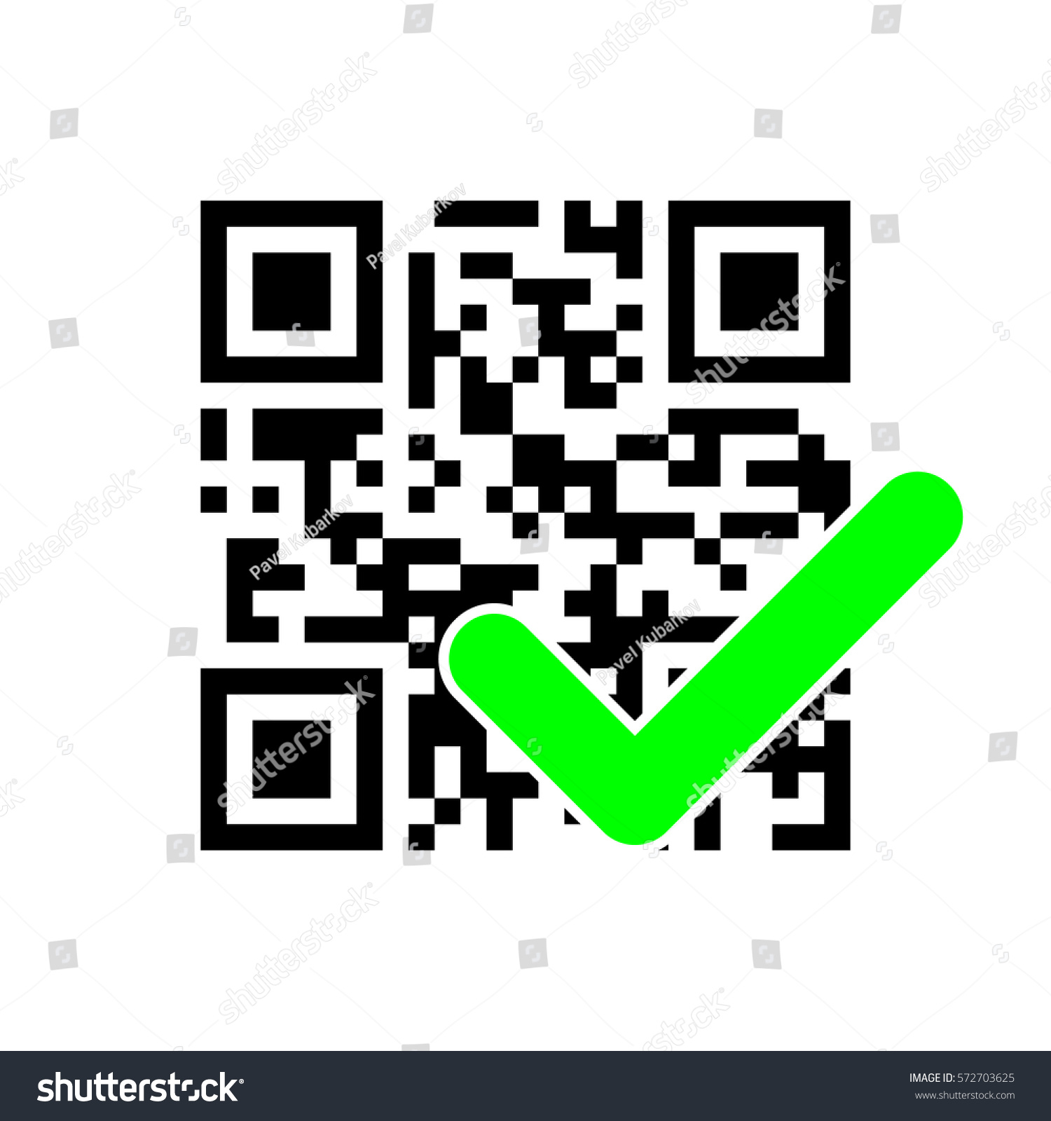 Qr Code Check Mark Stock Vector Royalty Free 572703625 Shutterstock