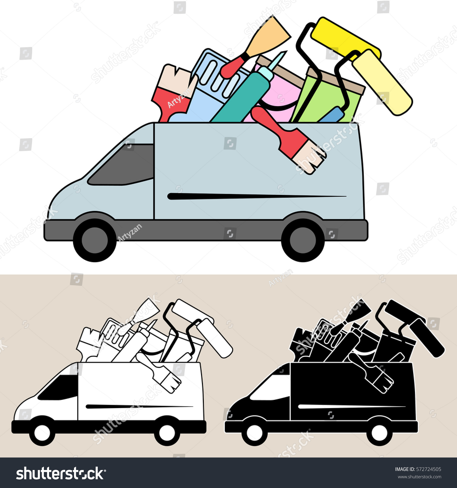 https://image.shutterstock.com/z/stock-vector-van-delivering-mobile-service-with-painting-and-decorating-tools-and-equipment-paint-brushes-572724505.jpg