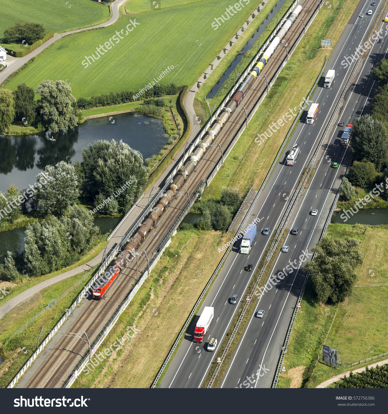 6 June 2016 Geldermalsen Netherlands Aerial Stock Photo ...