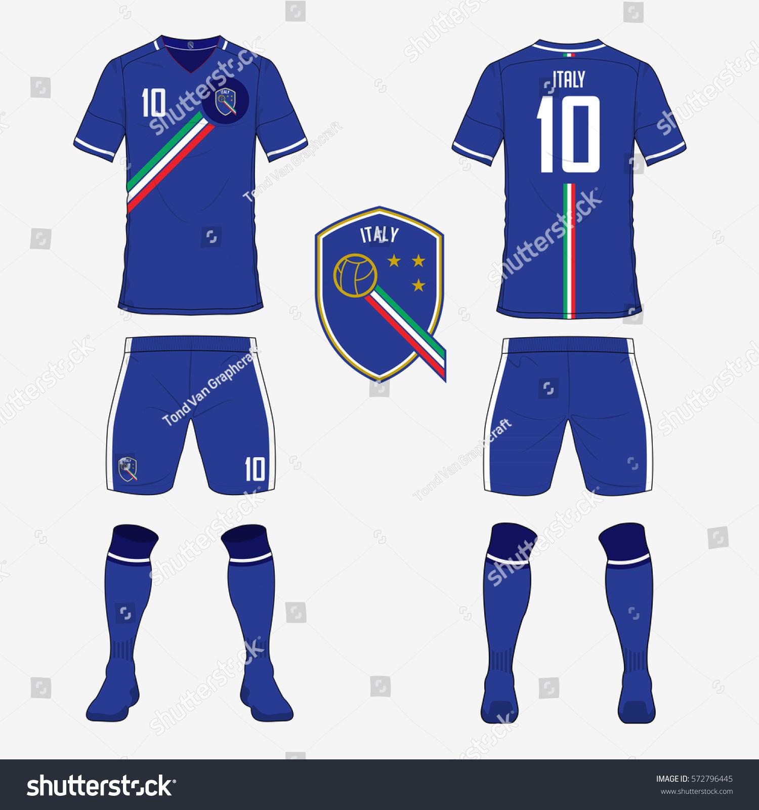 Set Soccer Jersey Football Kit Template Stock Vector ...