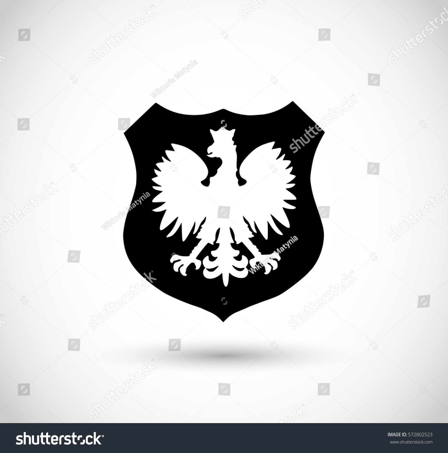 badge polish eagle vector stock vector 572802523 shutterstock