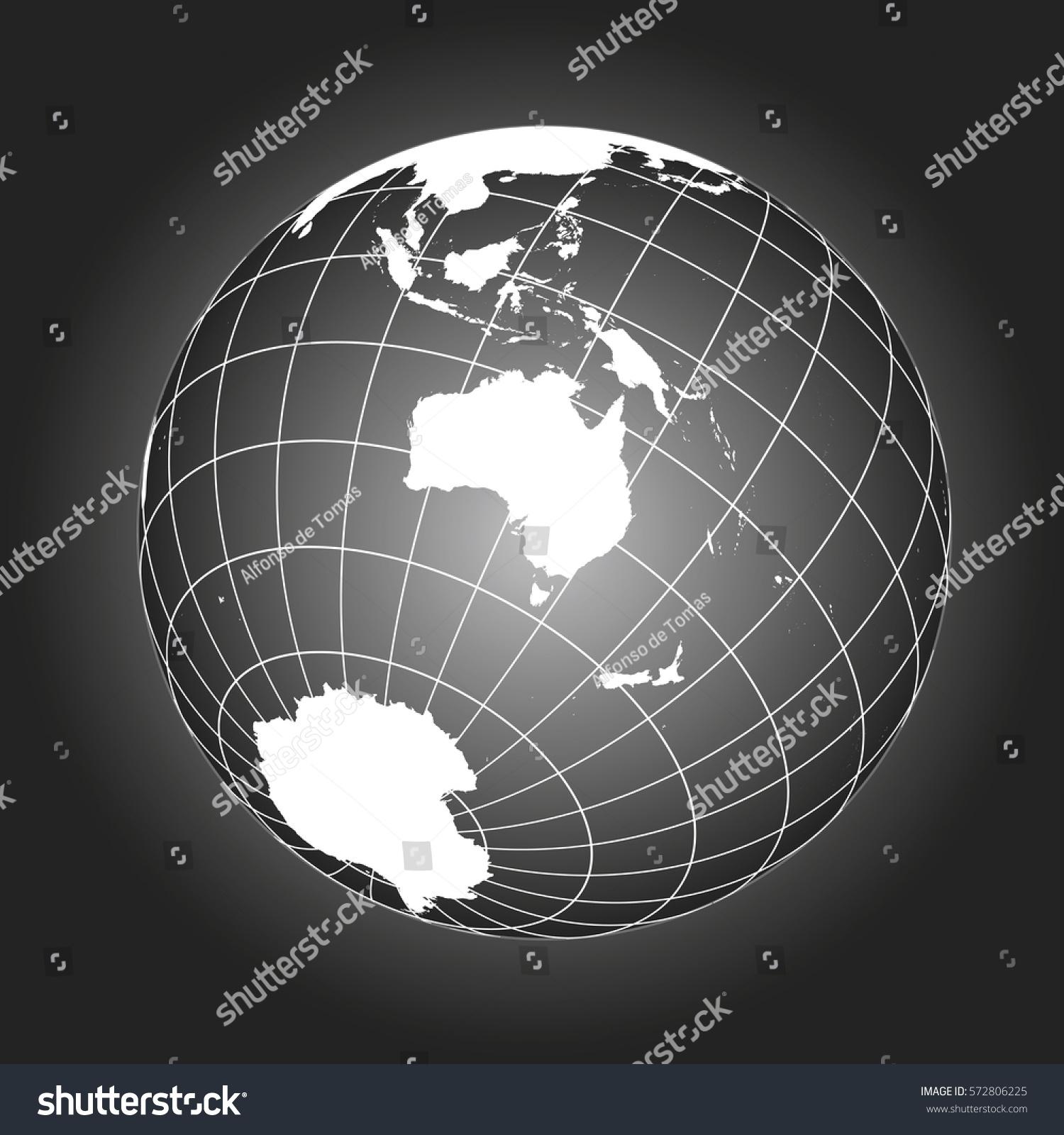 Australia oceania map australasia asia russia vectores en stock australia or oceania map australasia asia russia antarctica north pole gumiabroncs Choice Image