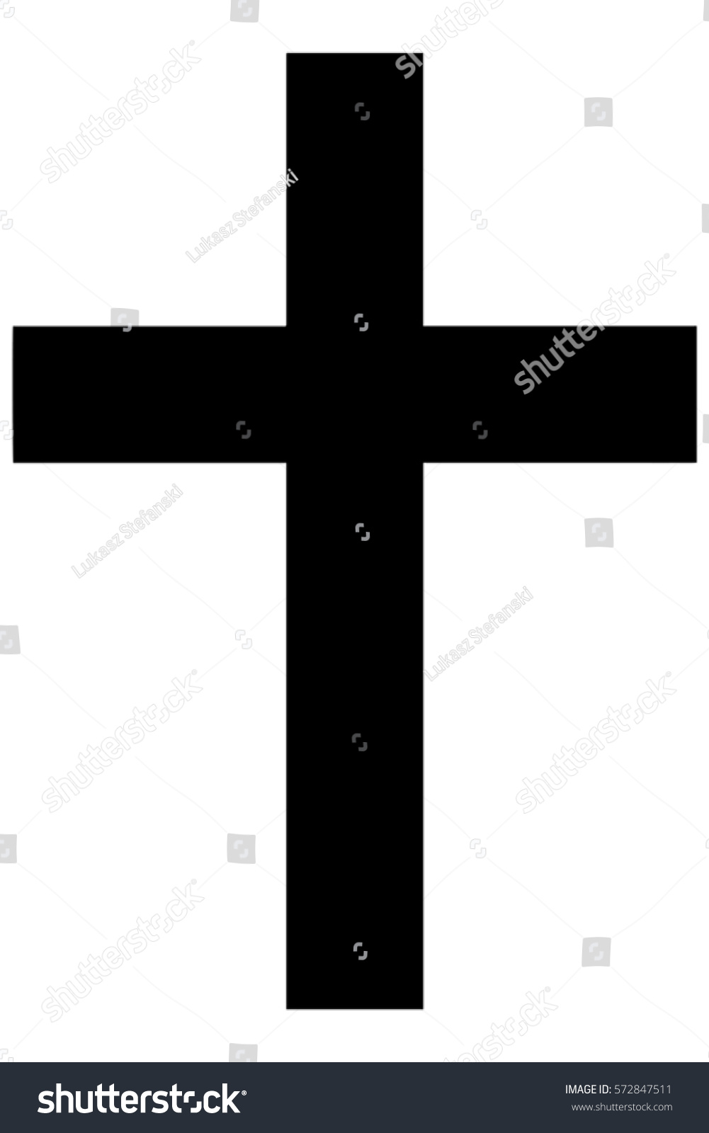 Religious Sign Christianity Christian Cross Symbol Stock Vector