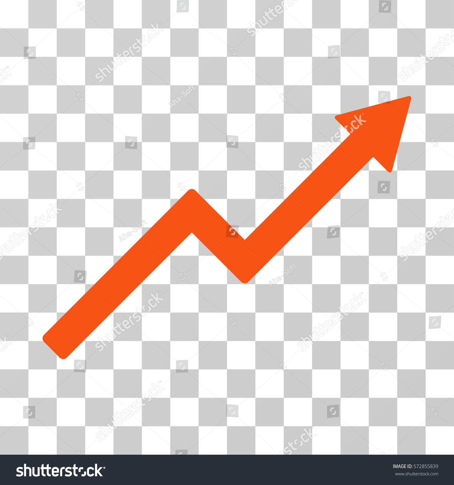 Growth trend chart icon vector illustration stock vector 572855839 growth trend chart icon vector illustration style is flat iconic symbol orange color nvjuhfo Images