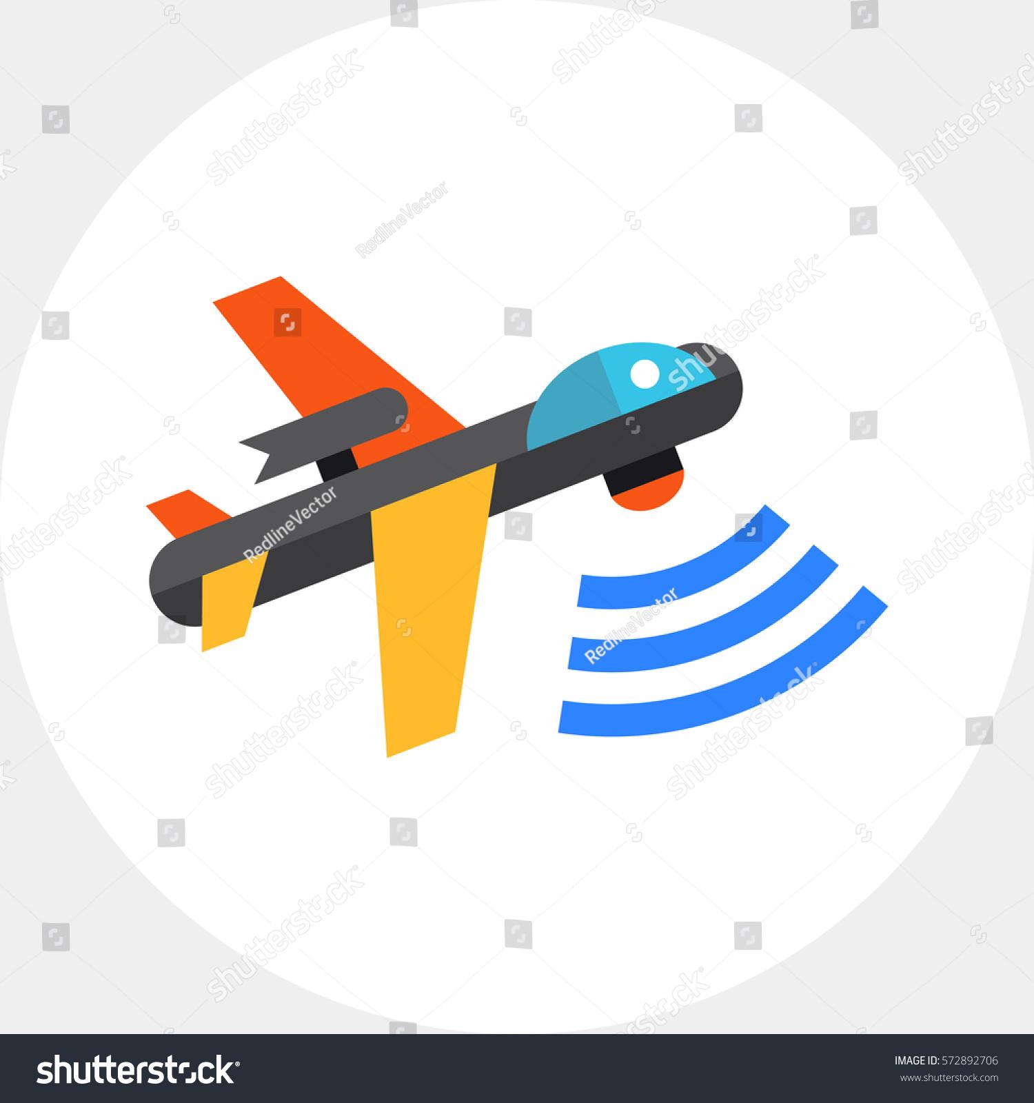 Combat Aerial Military Drone Icon
