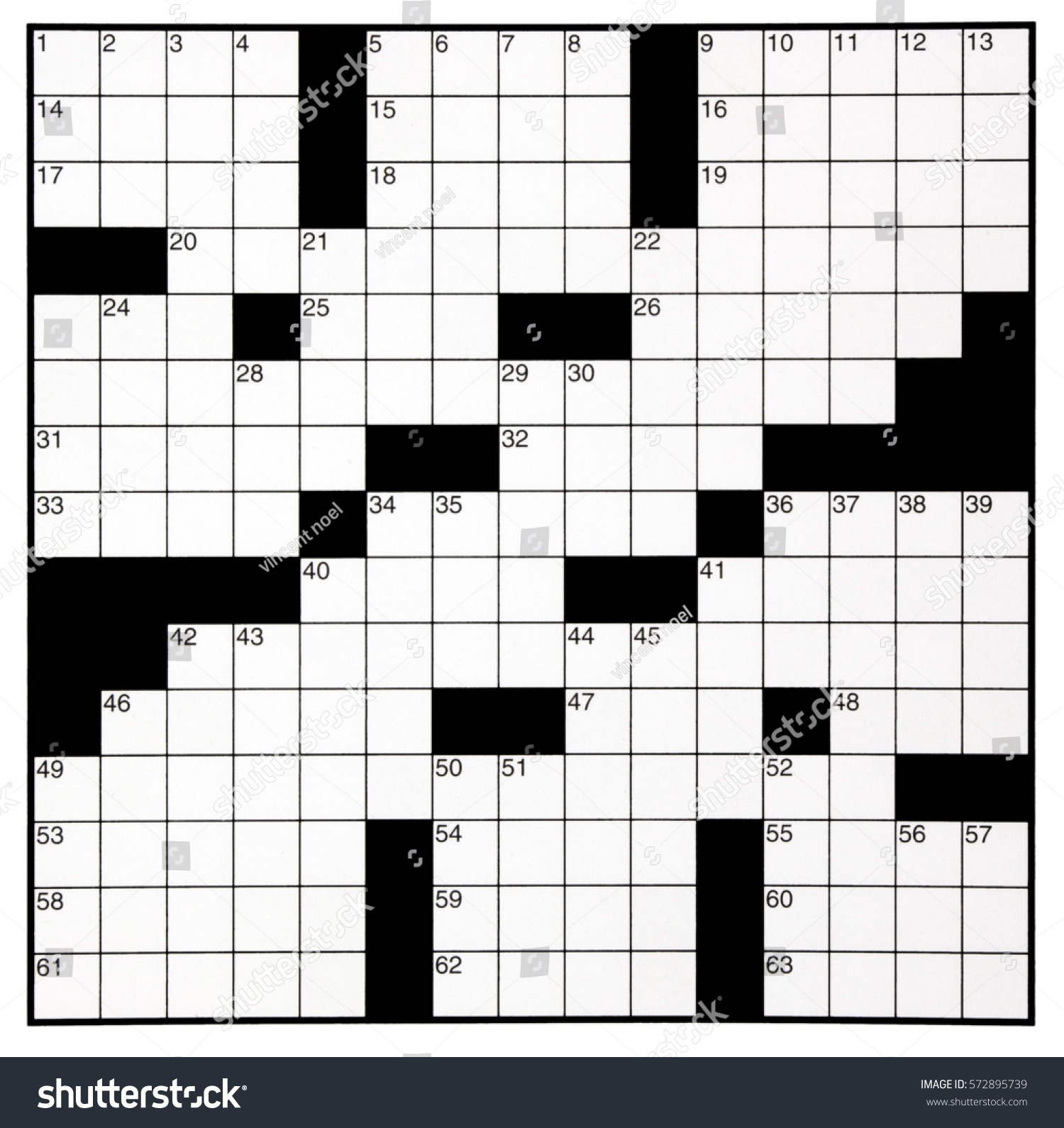 Blank Crossword Puzzle Grid With Numbers