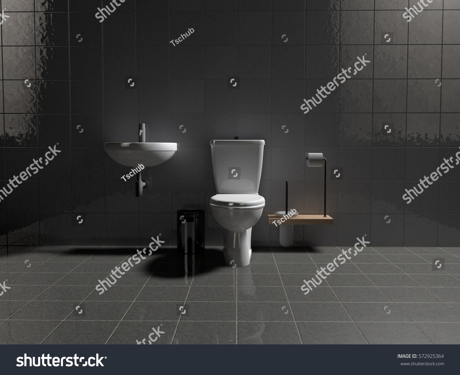 Picture Toilets Sinks Buckets Toilet Paper Stock Illustration ...