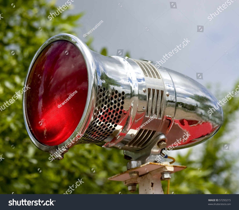 Vintage Stadium Lights: Vintage Siren Emergency Light Stock Photo 57293215