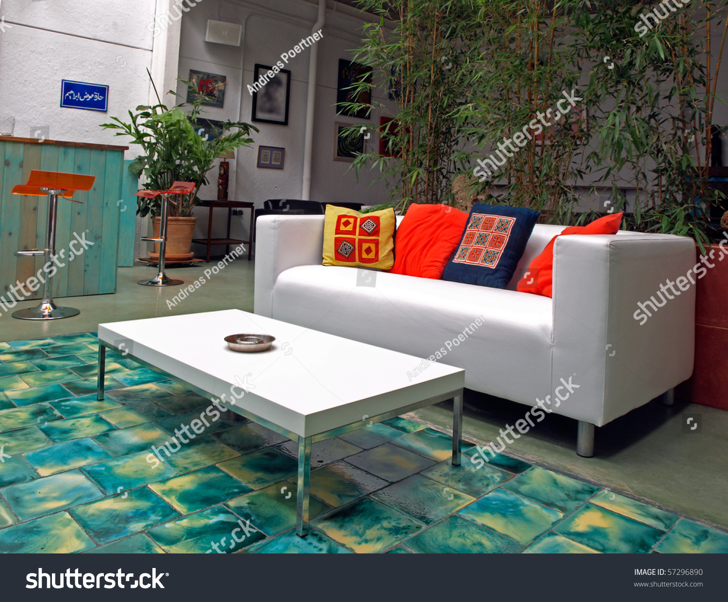 Sofa couch in a chill out bat stock photo 57296890 - Chill out sofa ...