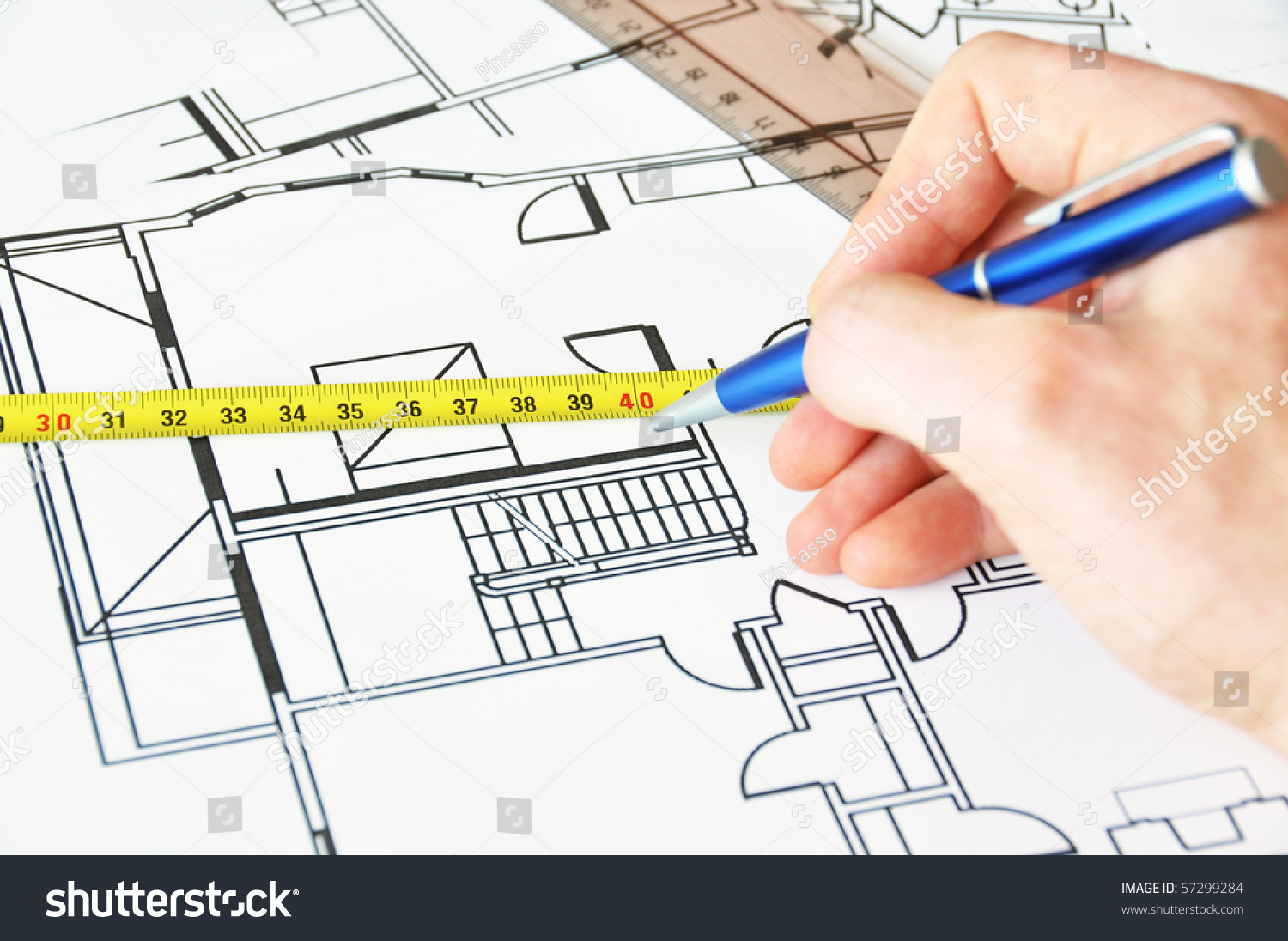 Architect work stock photo 57299284 shutterstock for Architect at work
