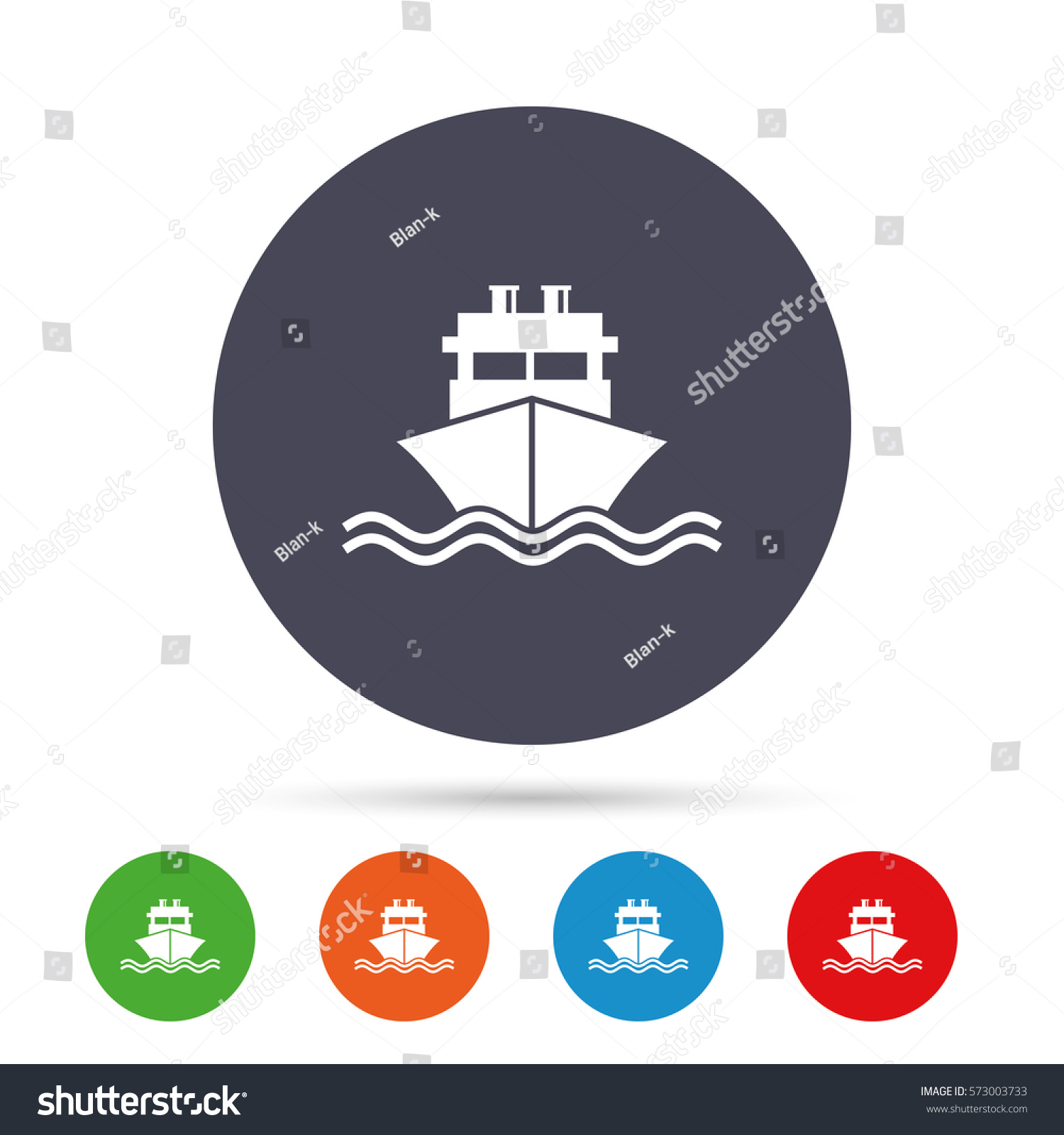 Ship boat sign icon shipping delivery stock vector 573003733 ship or boat sign icon shipping delivery symbol with chimneys or pipes round buycottarizona