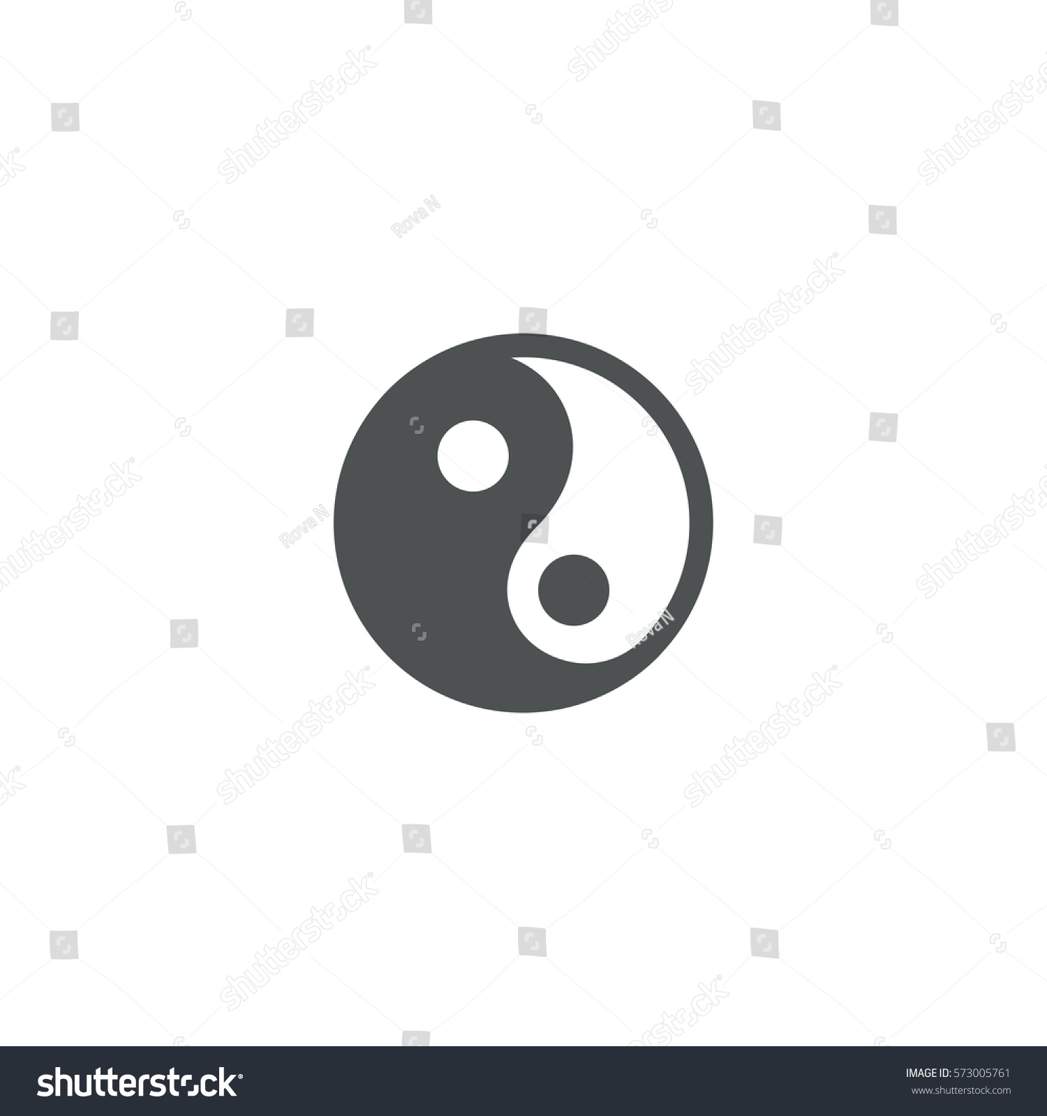Yin yang icon sign design stock vector 573005761 for Architecture yin yang