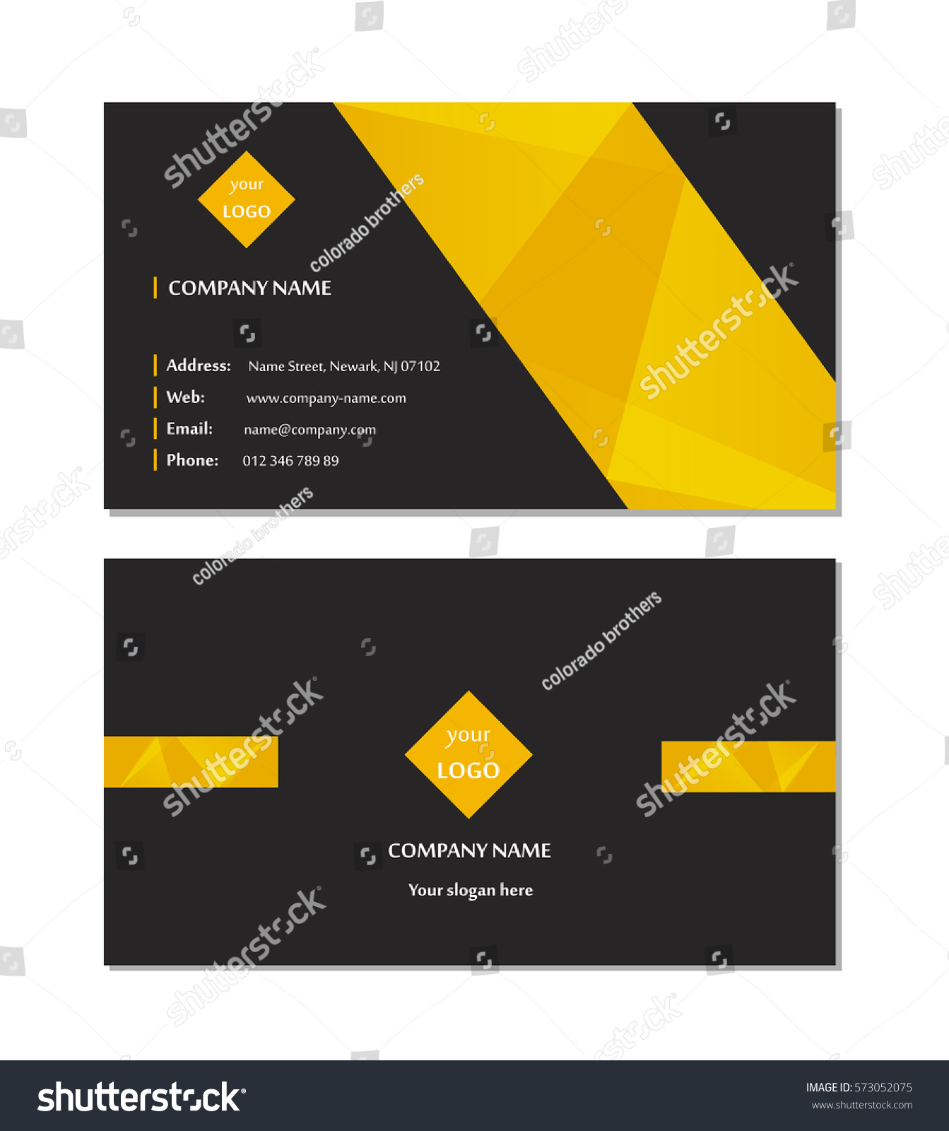 Elegant business card template vector stock vector 573052075 elegant business card template vector magicingreecefo Gallery