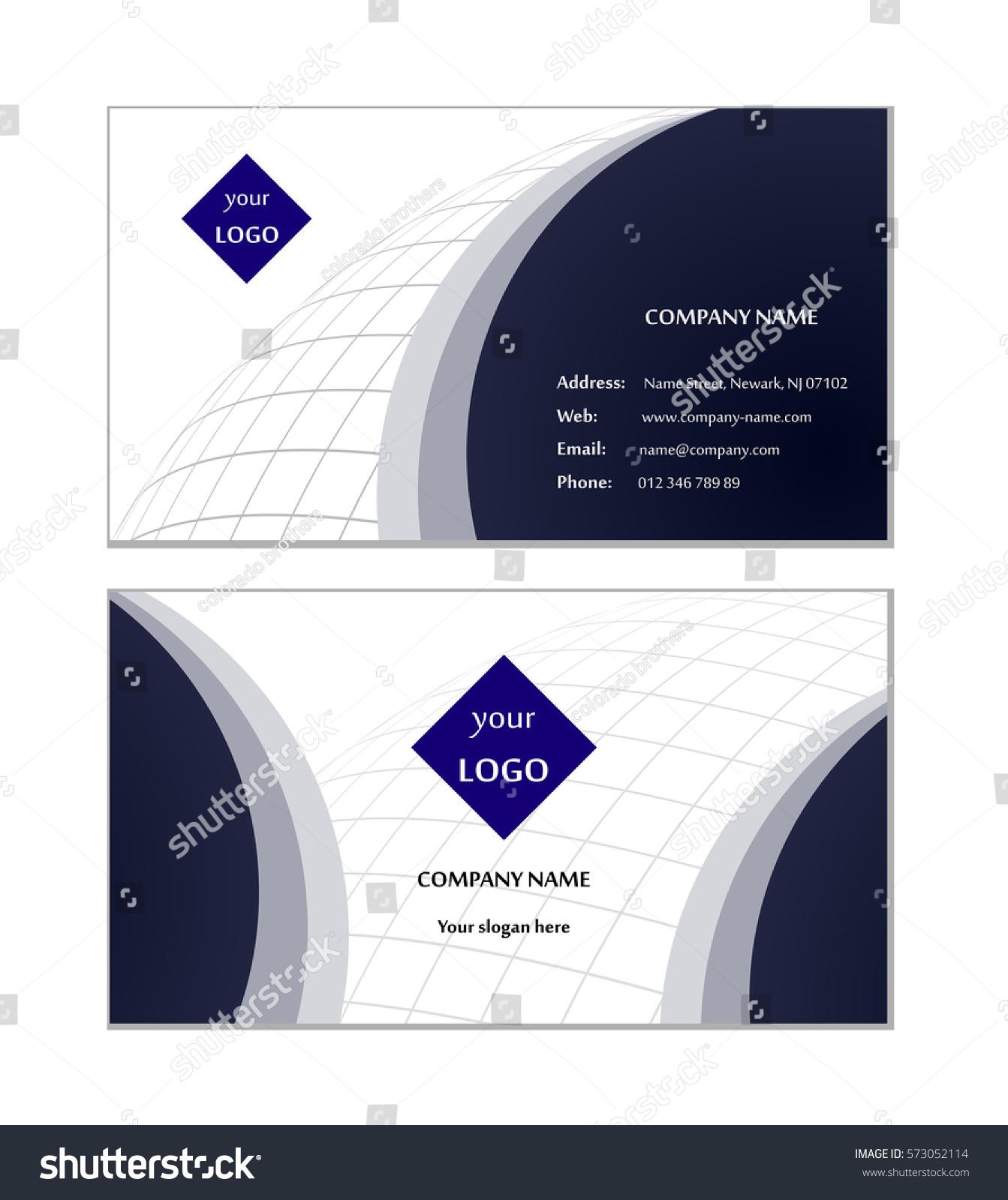 Elegant Business Card Template Vector Stock Vector 573052114 ...