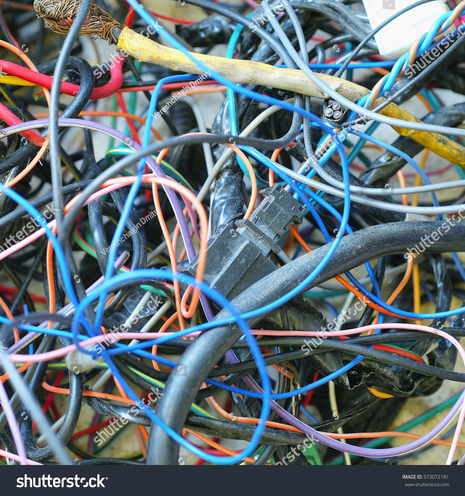 Disordered Car Cables Stock Photo 573072181 Shutterstock