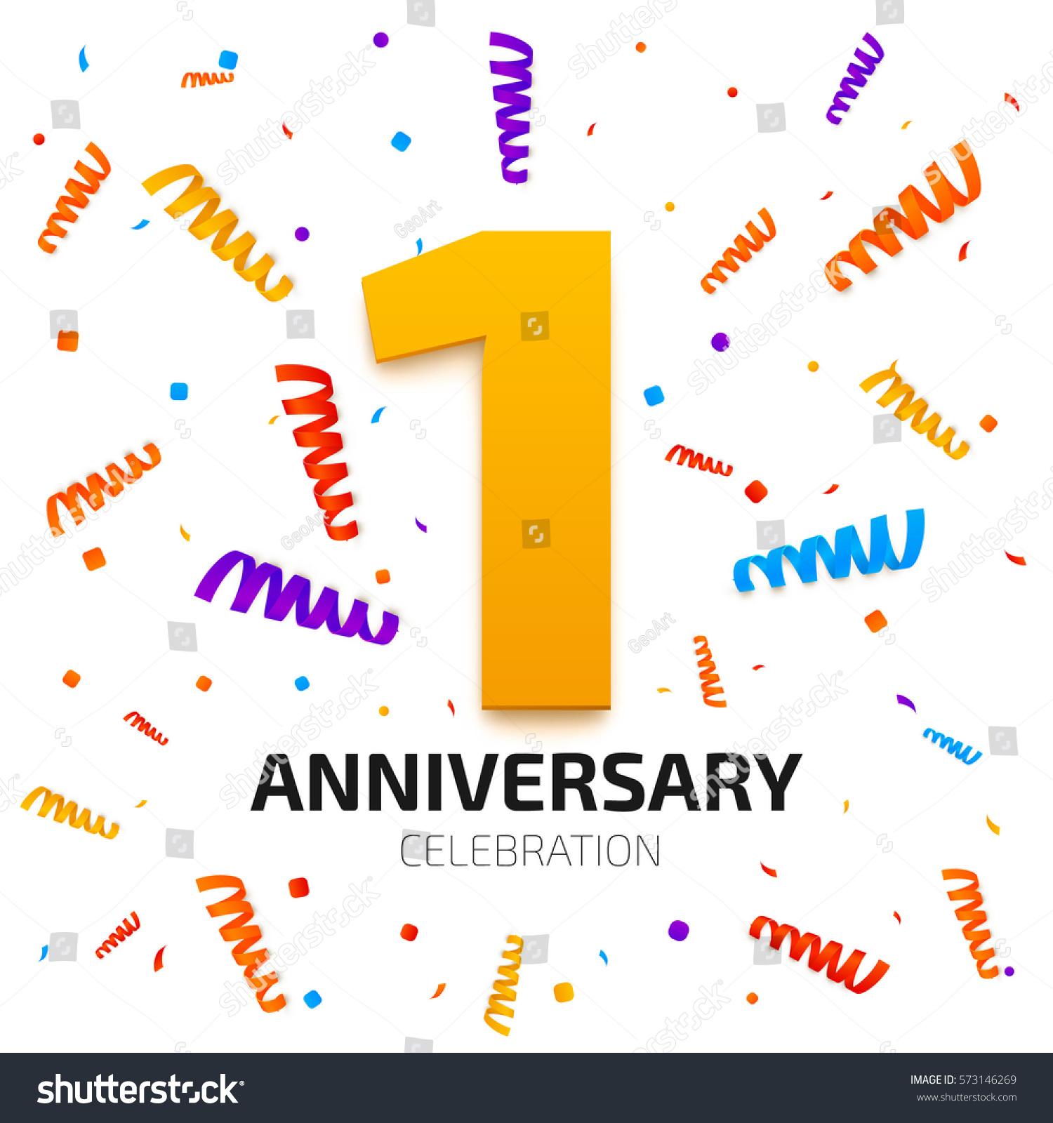 One year anniversary banner stock vector