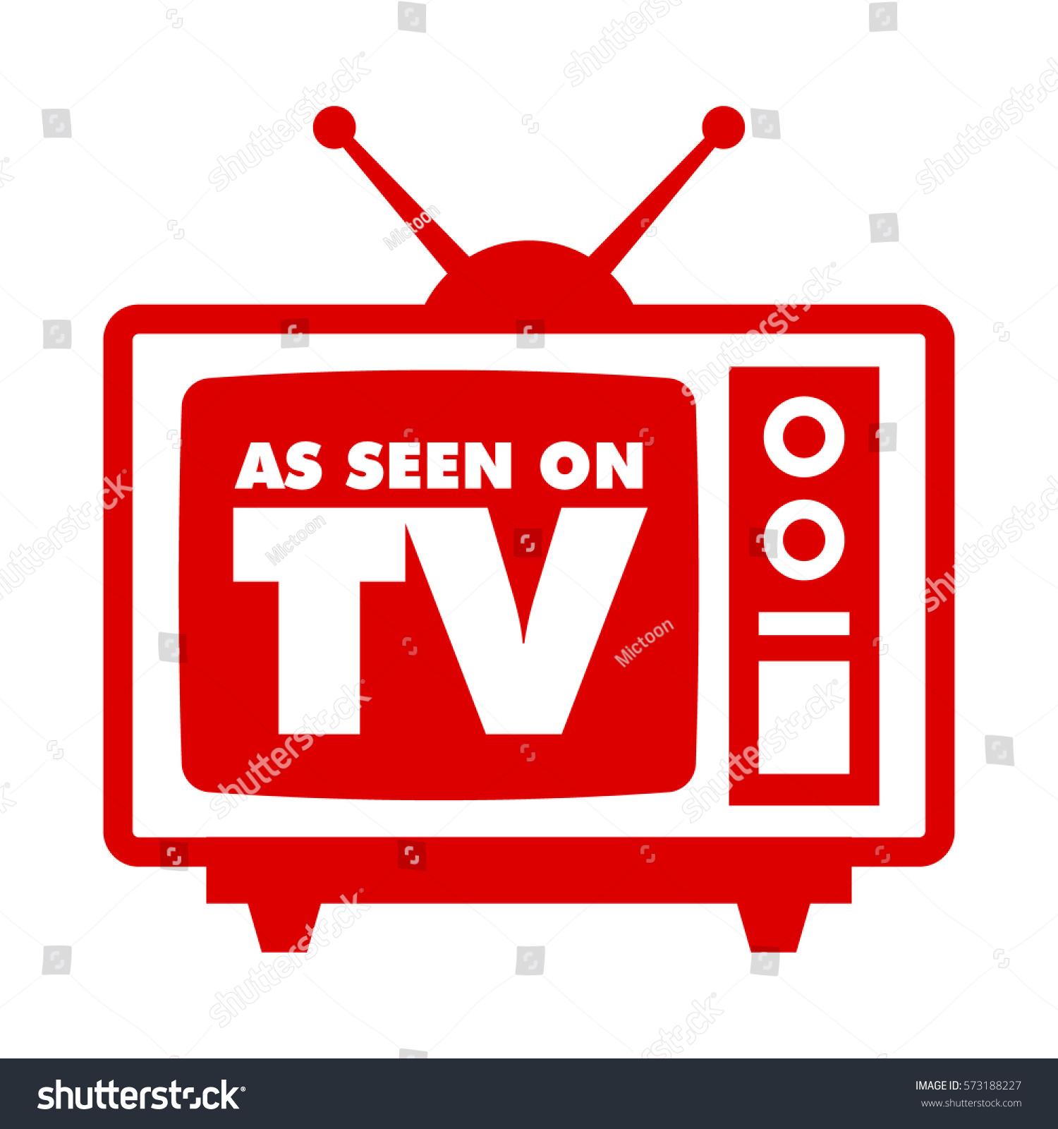 seen on tv retro television icon のベクター画像素材 ロイヤリティ