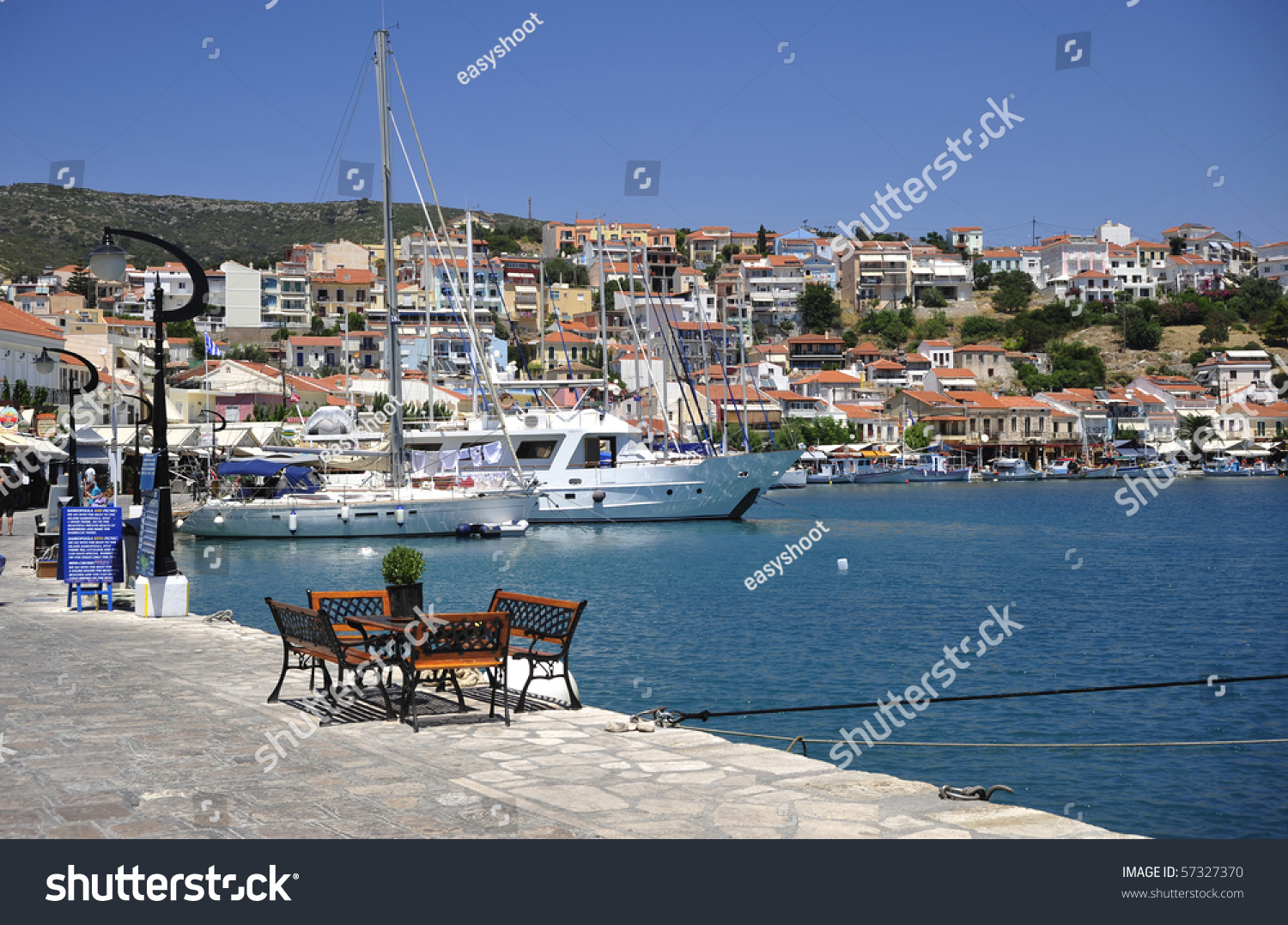 Port Pythagorion Samos Island Greece Stock Photo 57327370 - Shutterstock