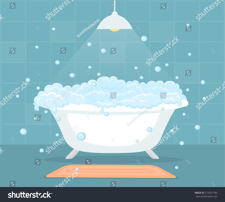 Bathtub Soap Bubbles Bathroom Stock Vector (2018) 573321796 ...