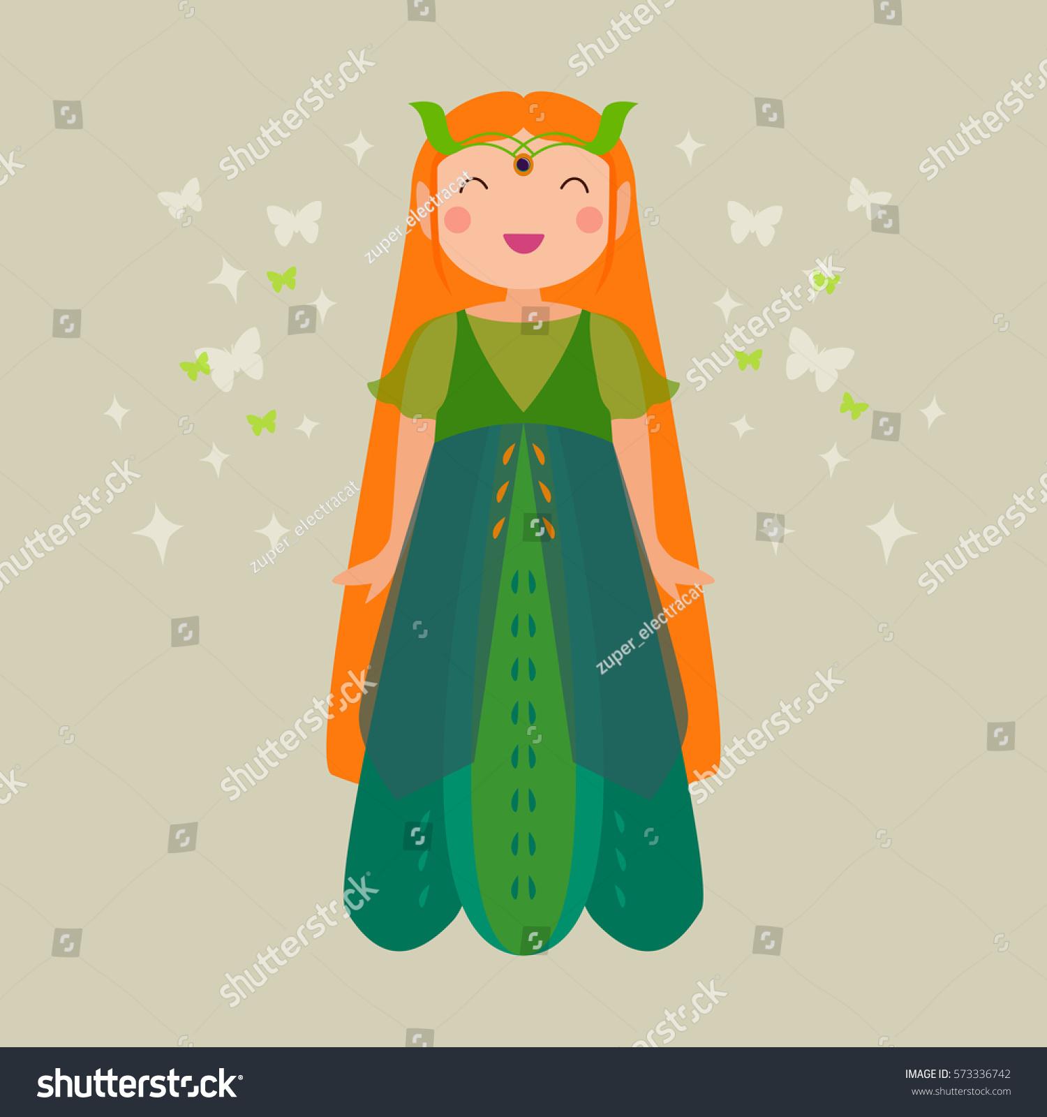 vector cute poster pixie cartoon magic のベクター画像素材