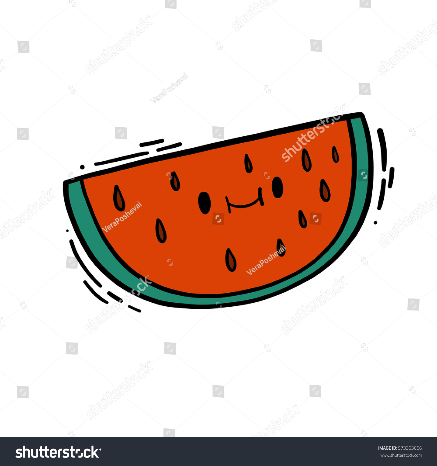 cute isolated vector doodle hand drawn stock vector 573353056