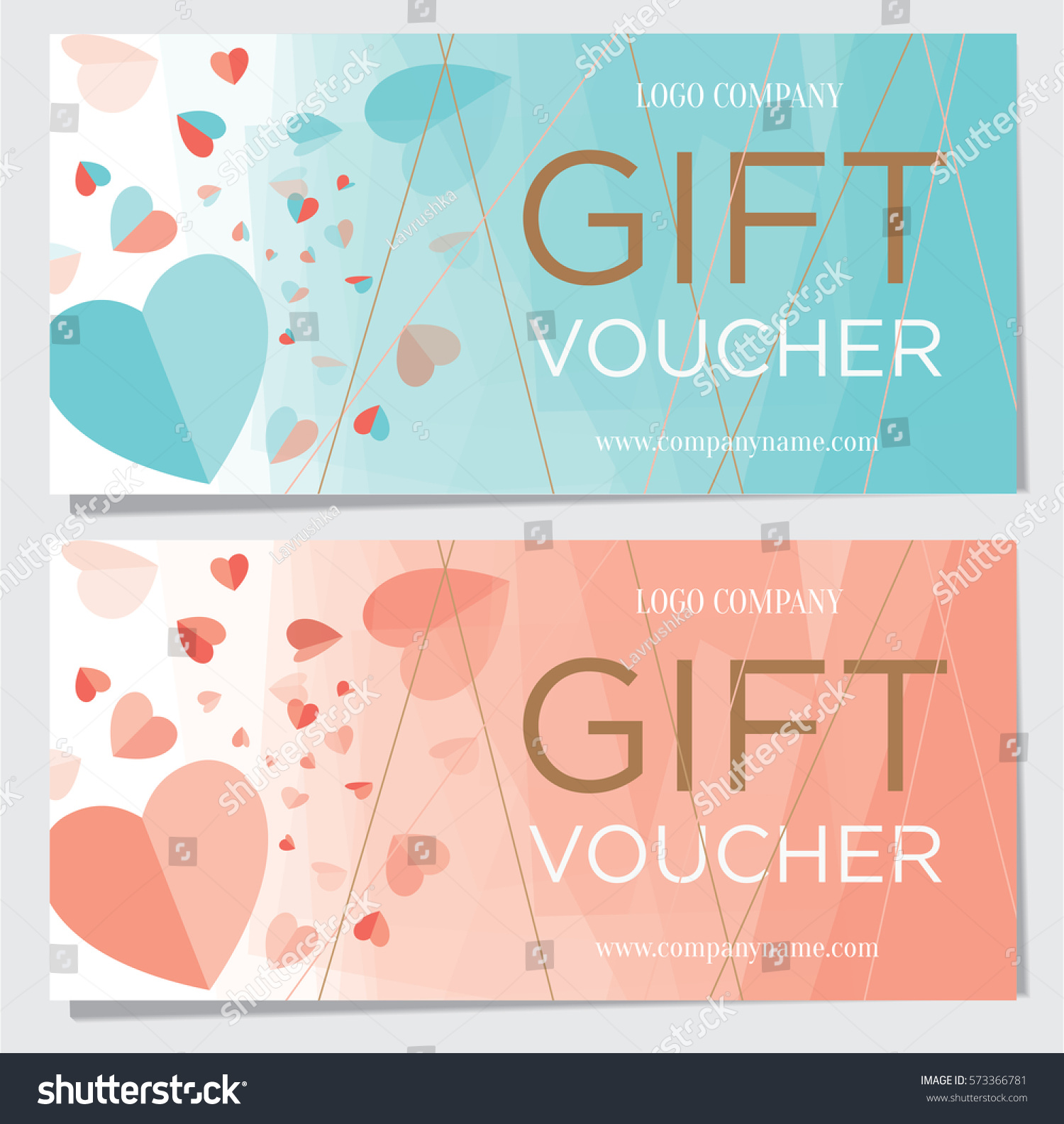 Gift Certificate Gift Card Gift Voucher Stock Vector Royalty Free