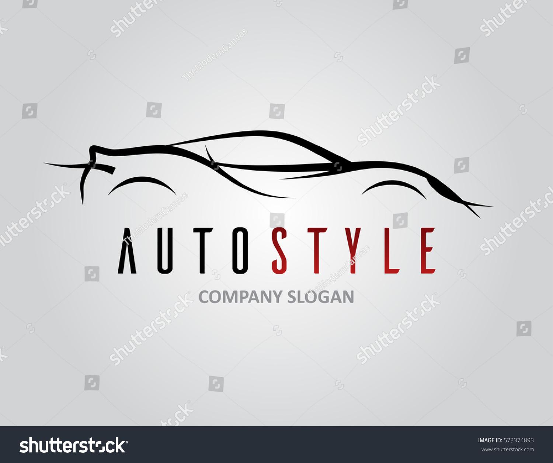 Auto Style Car Logo Design Abstract Stock Vector Royalty Free