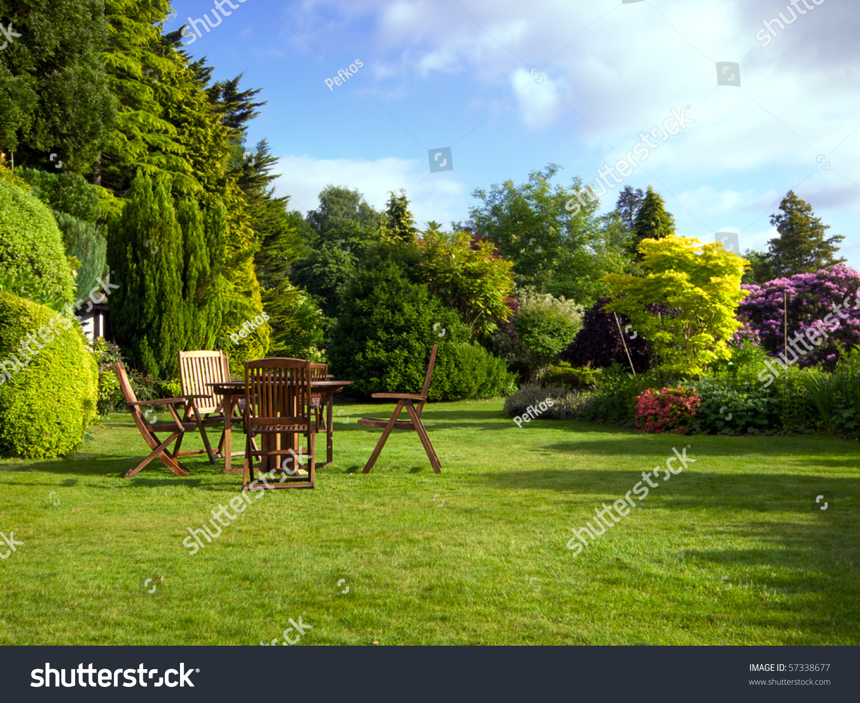 English garden in summer stock photo 57338677 shutterstock