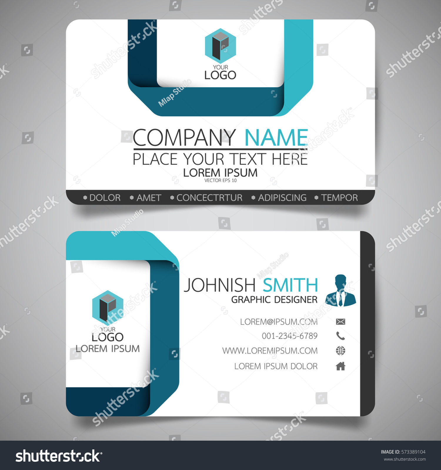 Blue modern creative business card name stock vector 573389104 blue modern creative business card and name cardhorizontal simple clean template vector design magicingreecefo Images