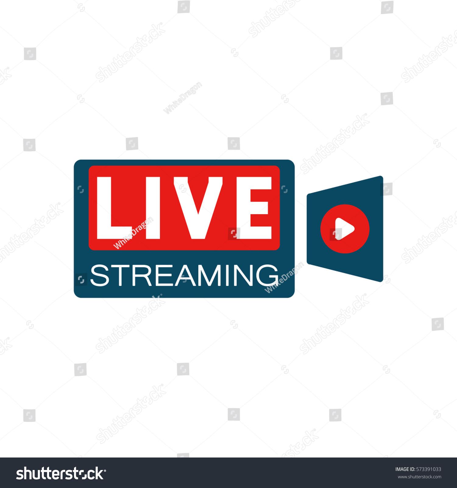 Live stream camera shape concept stock stock vector for Camera streaming live