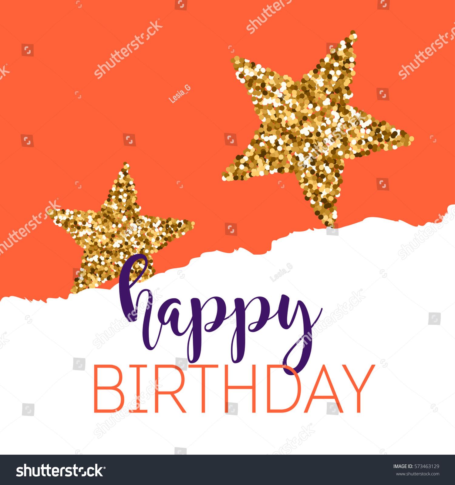 Birthday greeting cards gold glitter design stock vector 573463129 birthday greeting cards with gold glitter design vector illustration kristyandbryce Images