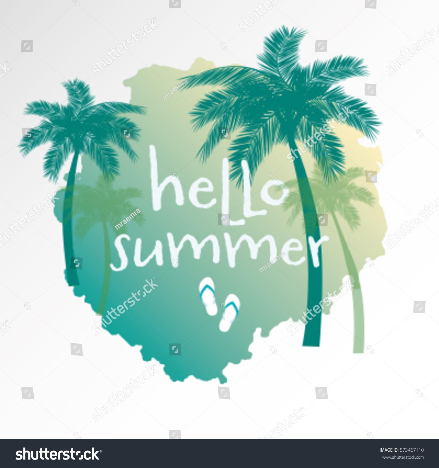 Hello Summer Modern Calligraphic Tshirt Design Stock Vector ...