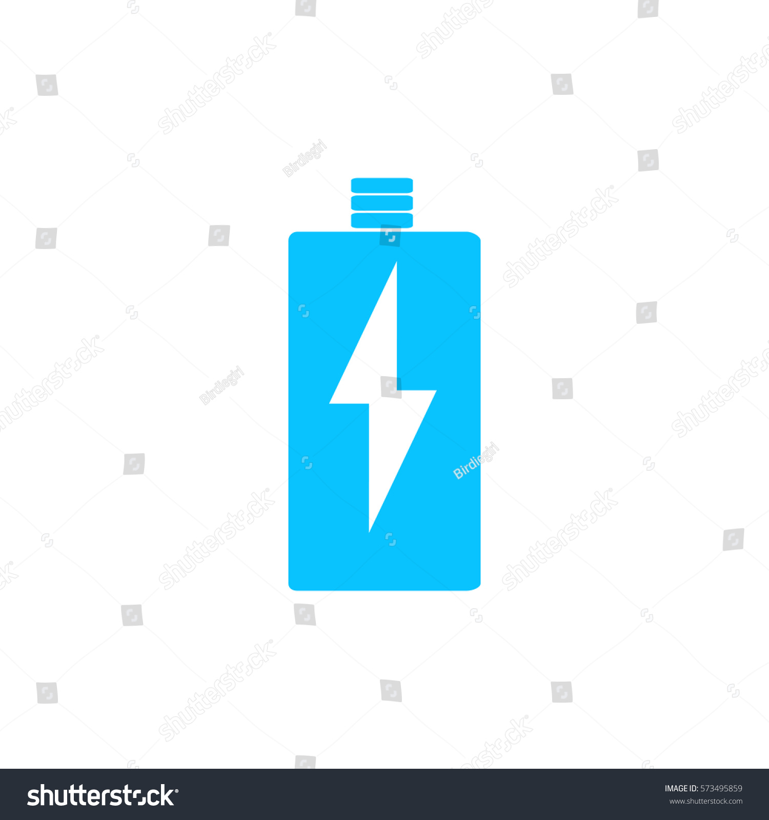 Battery Charging Icon Flat Blue Pictogram Stock Vector (2018 ...