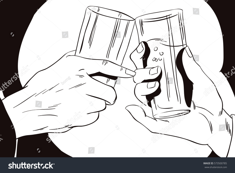 Line Art Illustration Style : Stock illustration style pop art old vector 573500785