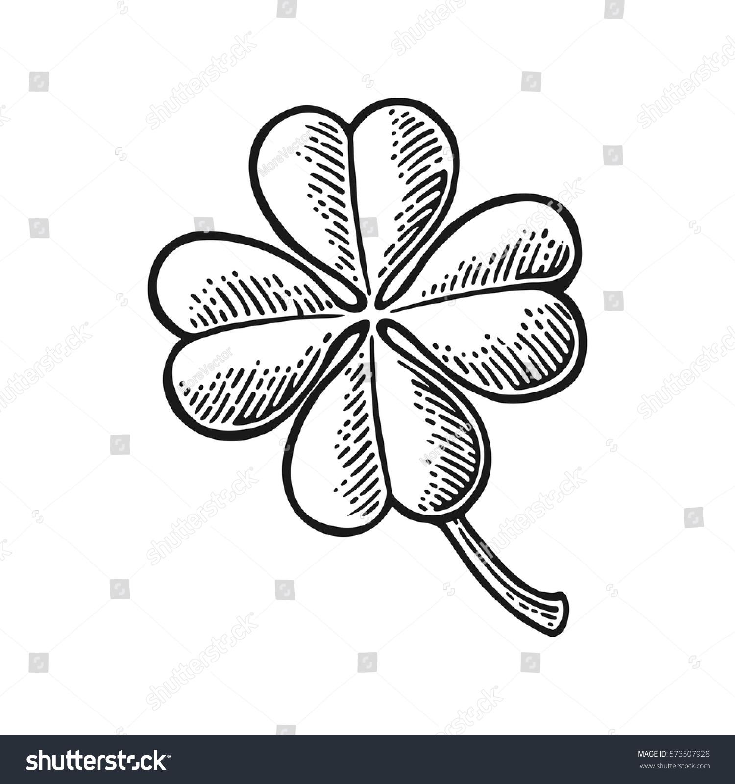 Good Luck Four Leaf Clover Vintage 573507928