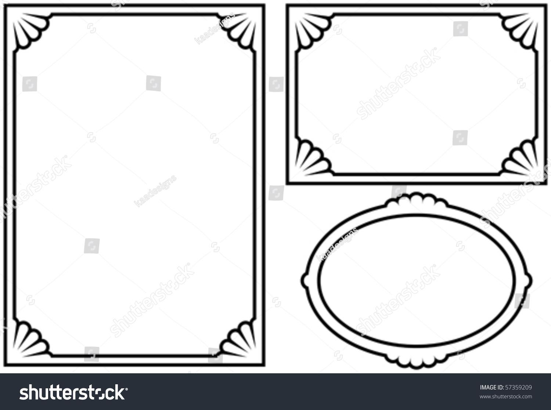 vector decorative frames on white background - Decorative Frames