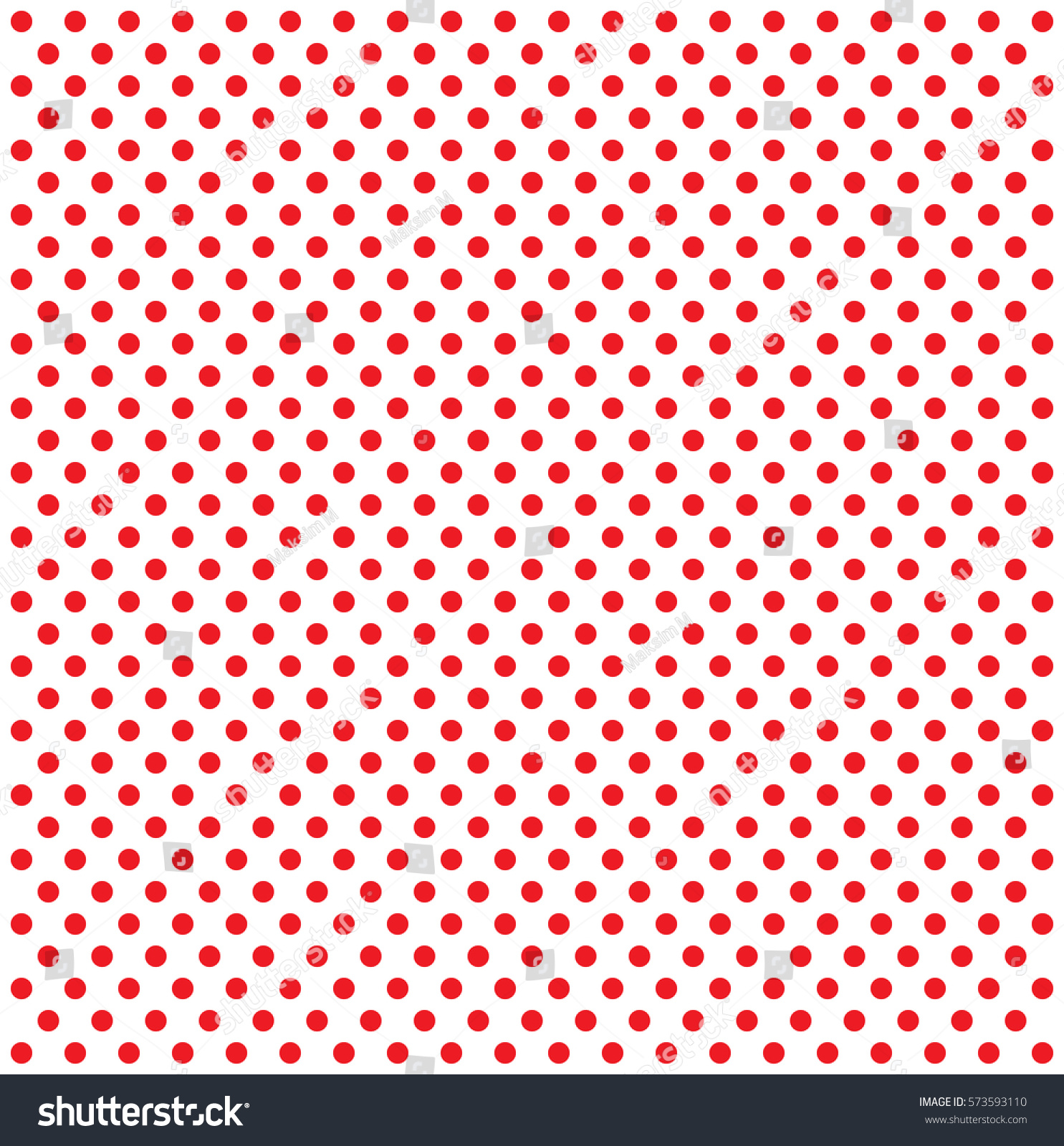 Pop Art Pattern Red Dots On White Background Halftone Color