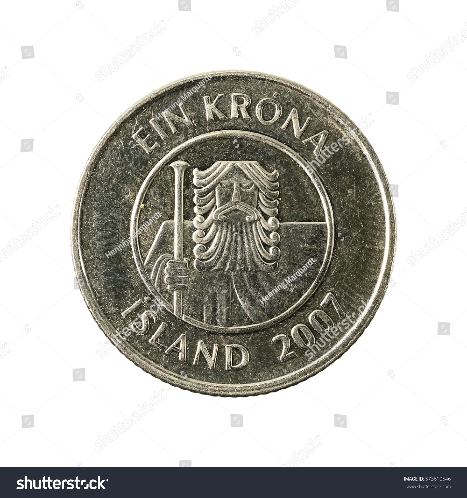 1 Icelandic Krona Coin 2007 Reverse Stock Photo Edit Now 573610546