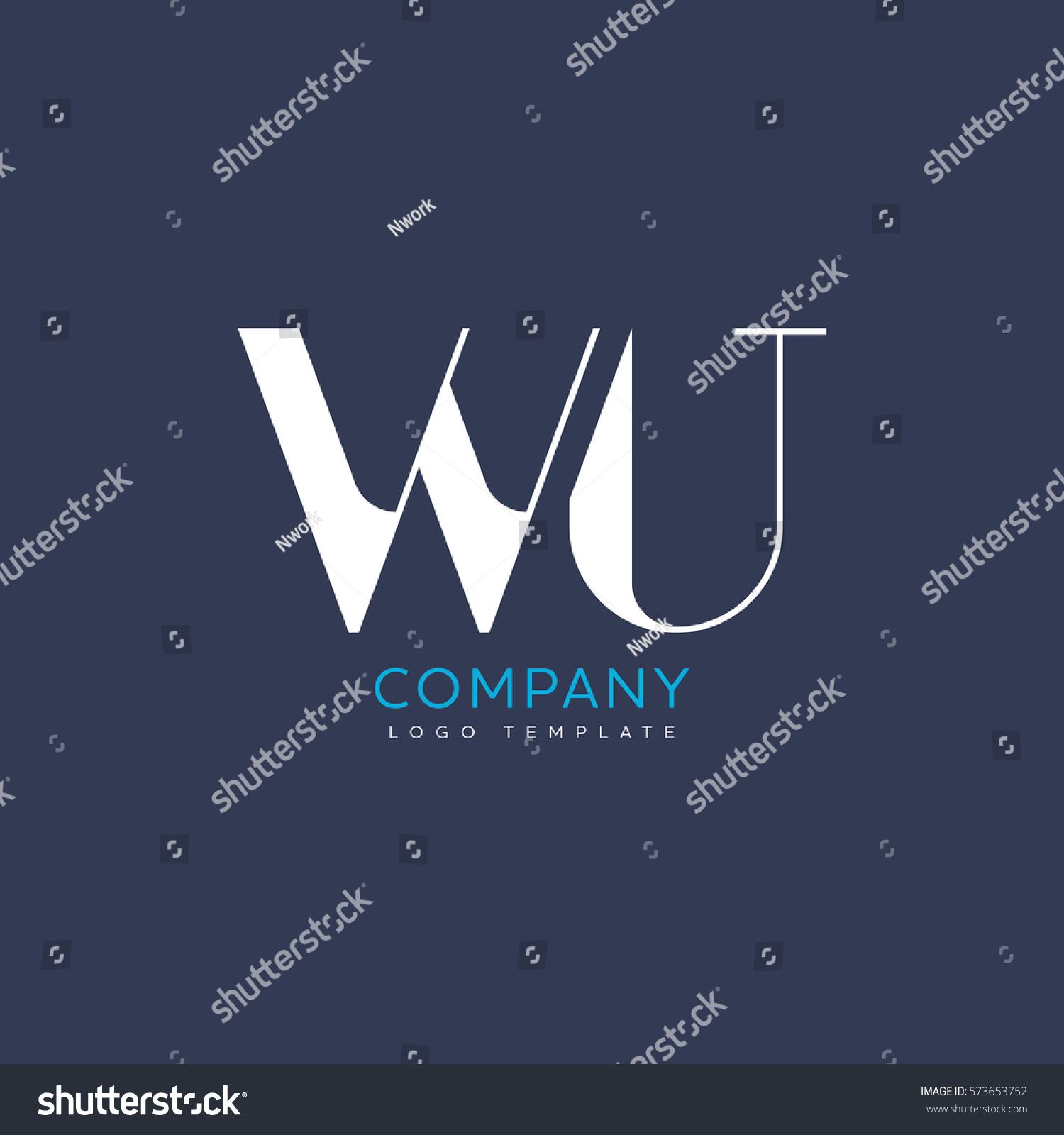 W U Letter Logo Design Stock Vector (Royalty Free) 573653752