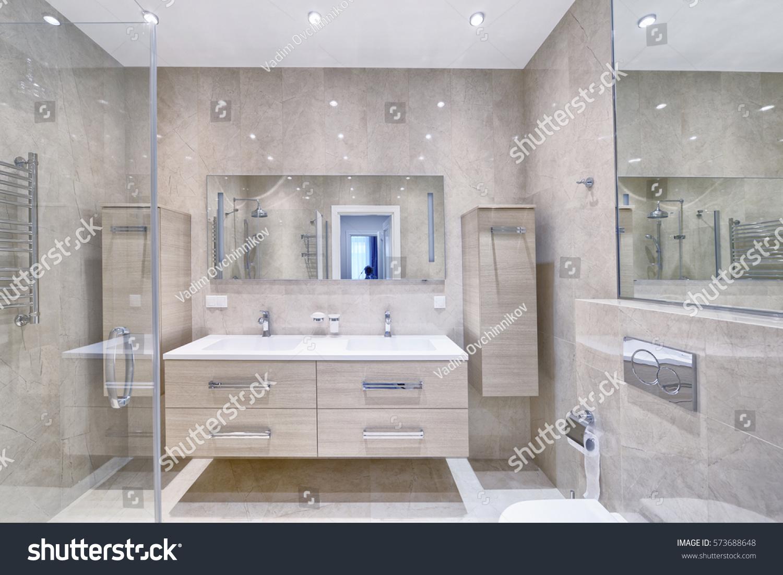 Russia Moscow Region Interior Design Bathroom Stock Photo (Royalty ...