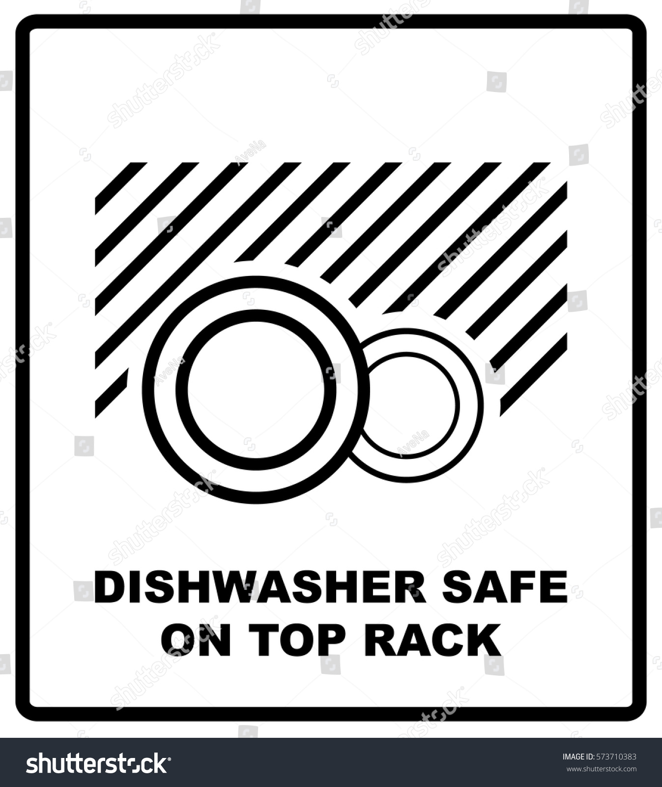 Dishwasher Safe On Top Rack Symbol Stock Vector Royalty Free