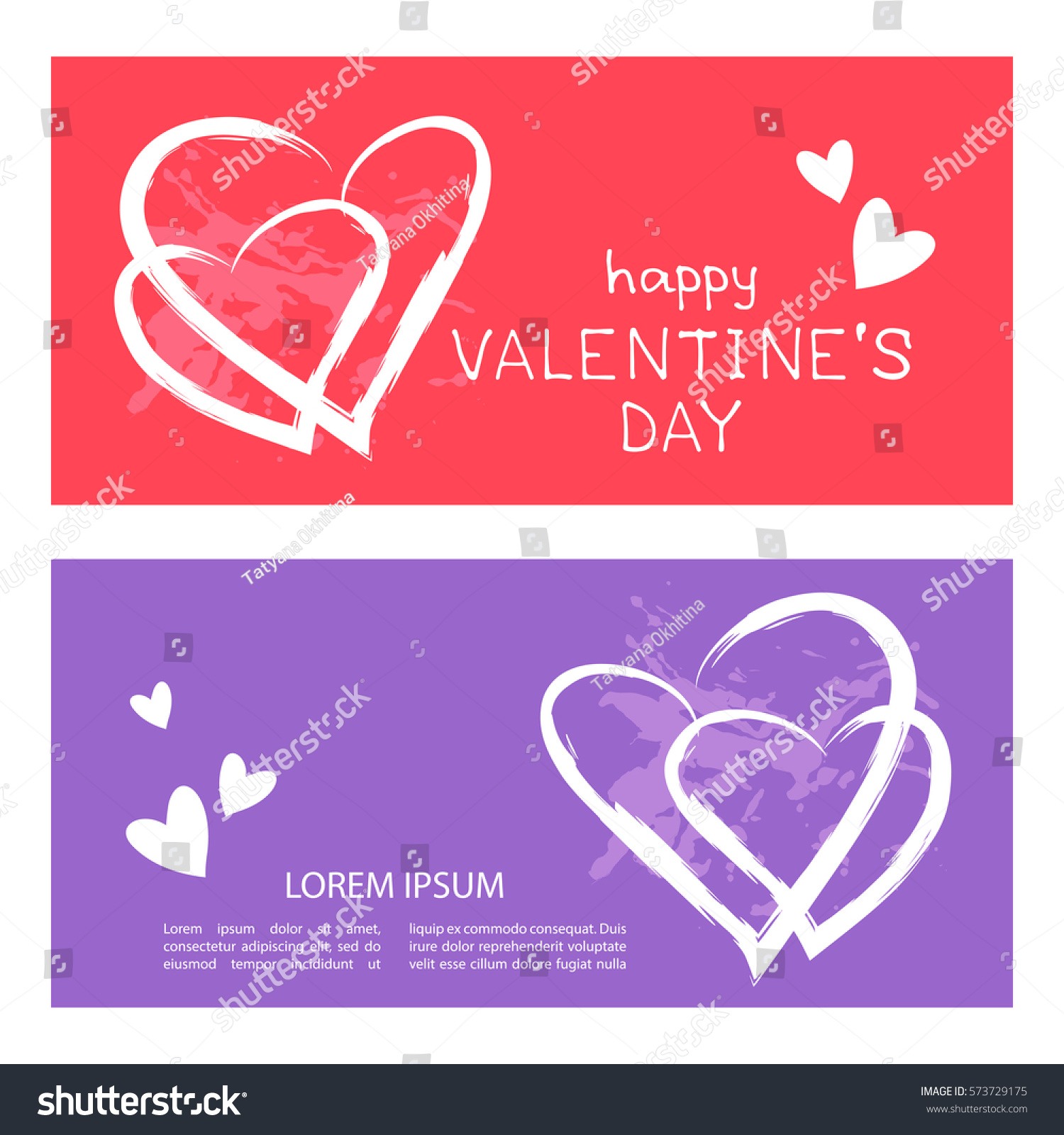Templates Hearts Text Frames Valentines Day Stock Vector 573729175 ...