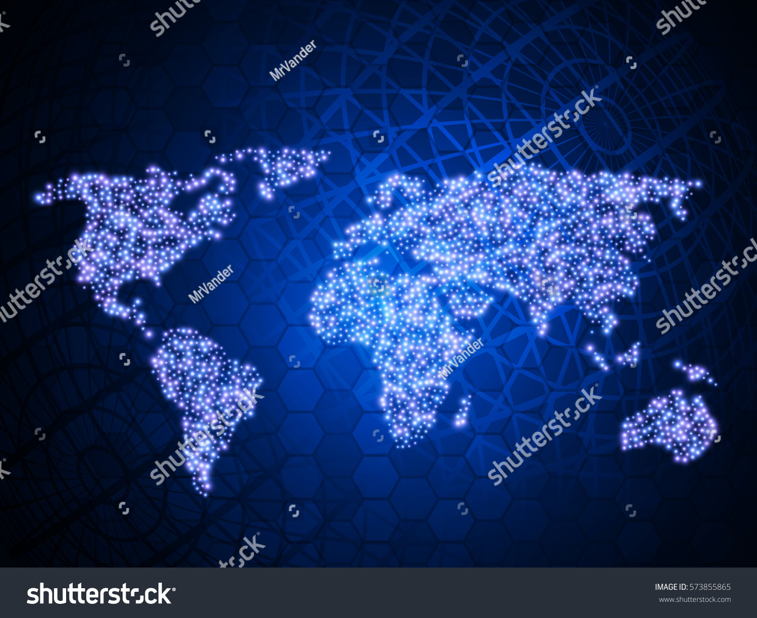 Abstract technology background world map vector stock vector 2018 abstract technology background with world map vector illustration gumiabroncs Images