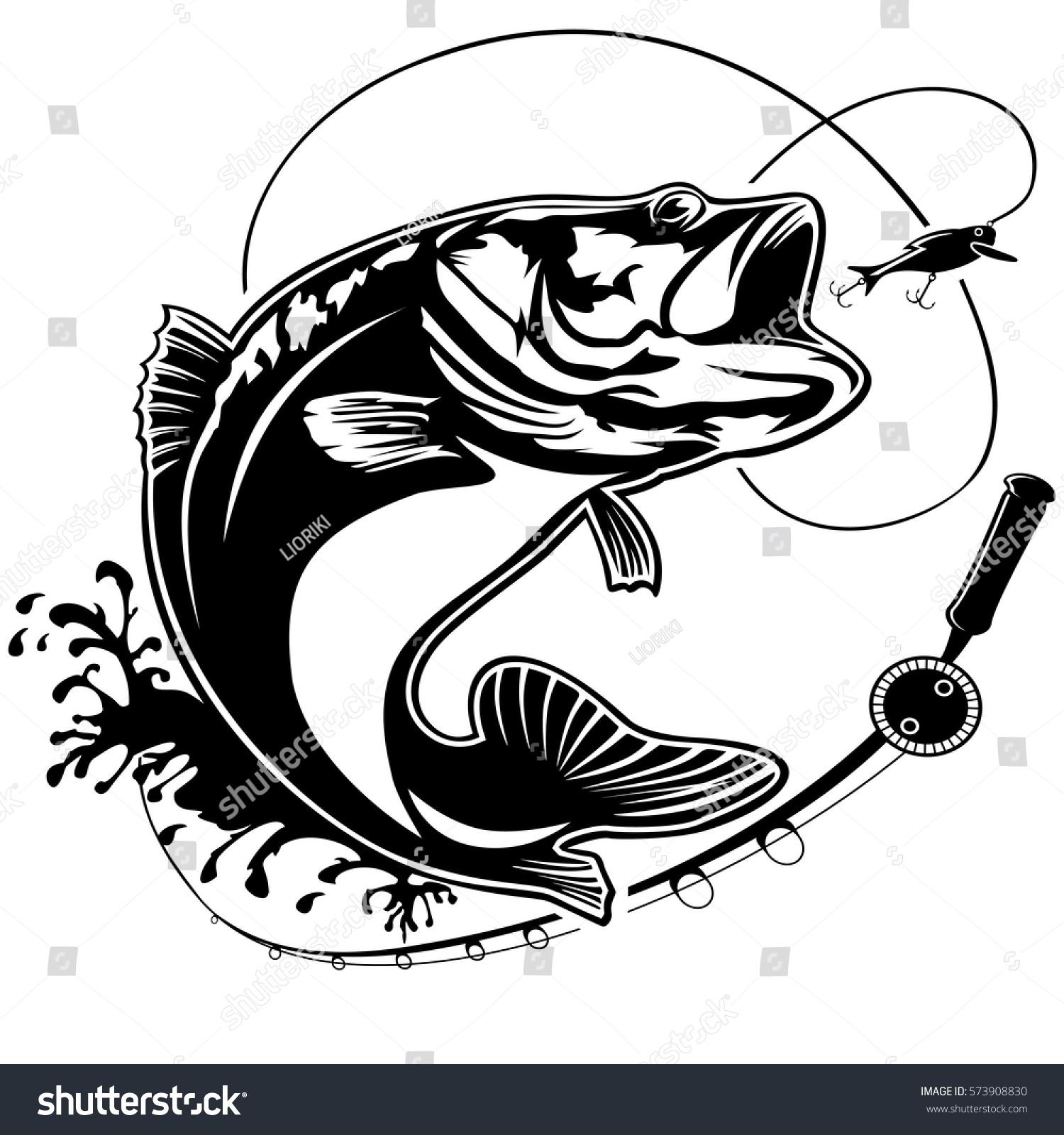 Royalty-free Fishing logo. Bass fish club emblem ...