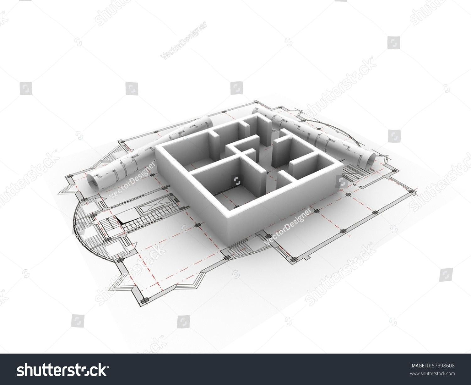 3d plan drawing stock photo 57398608 shutterstock for 3d plan drawing