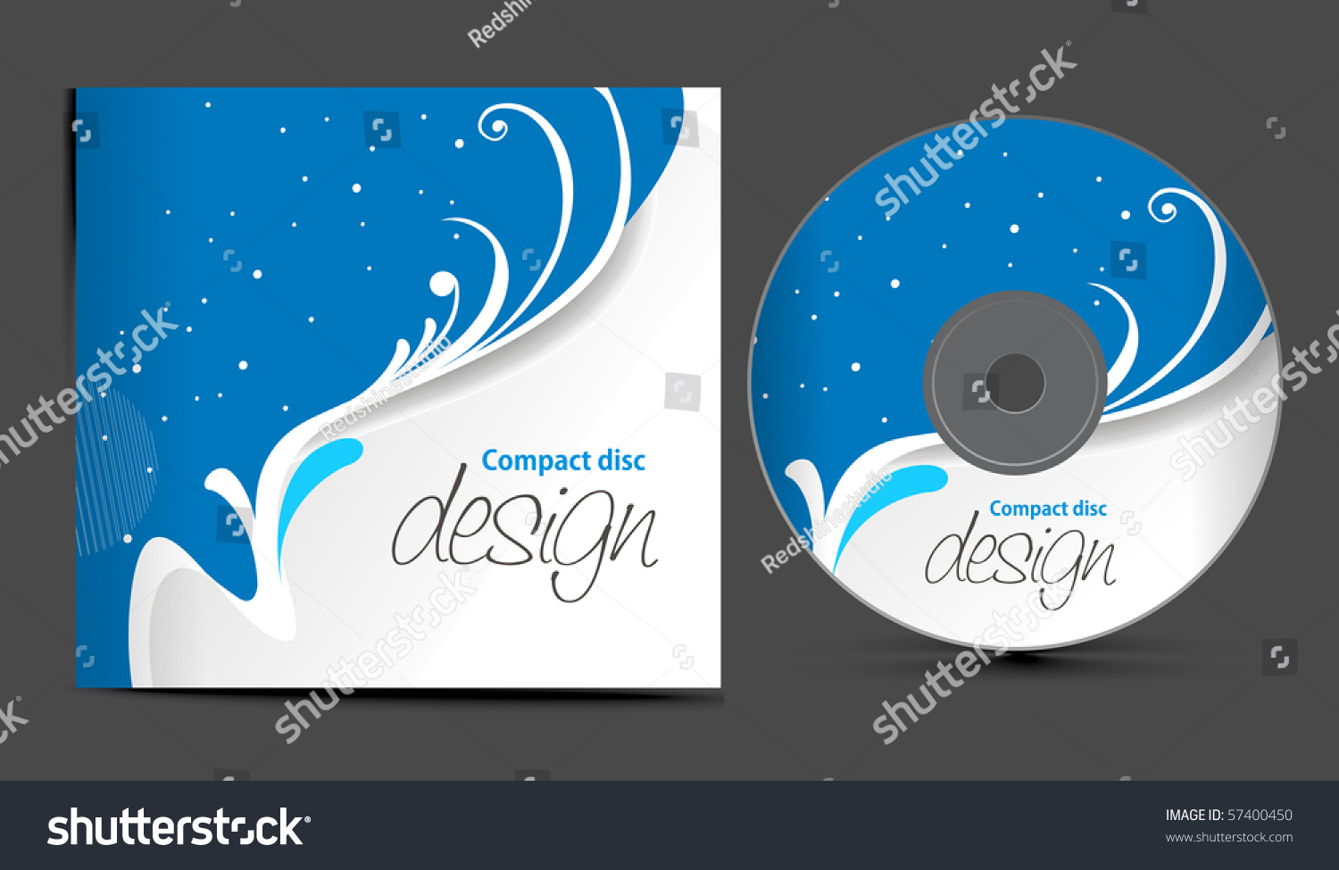 Vector cd cover design template with copy space vector for Copy design