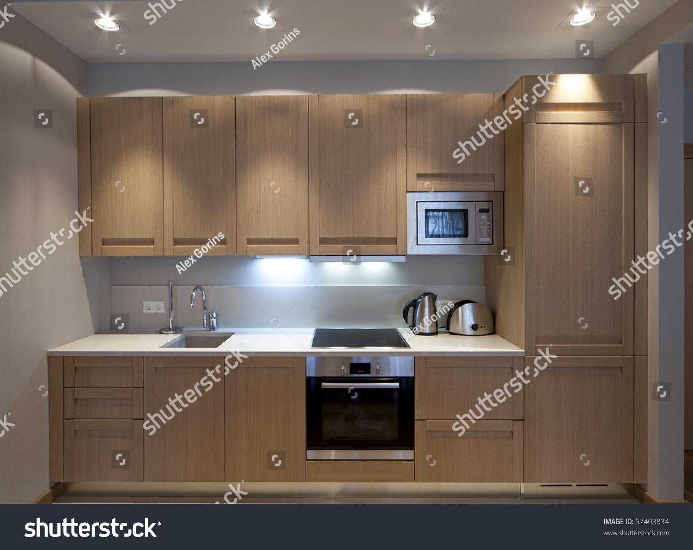 Modern Kitchenette Stock Photo 57403834 : Shutterstock